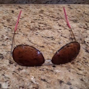 Gold and Pink Bronze Aviator Glasses